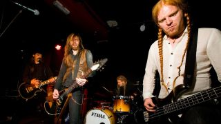 Icelandic metal band Solstafir onstage in London