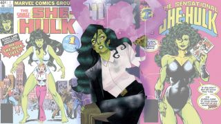 collage of She-Hulk covers