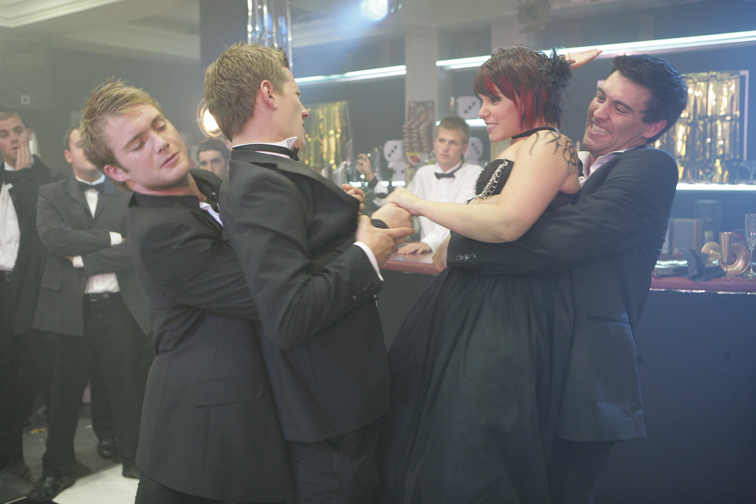 Tempers flare at the Freshers' Ball