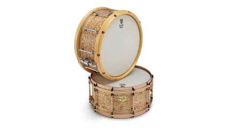 These drums are the first wooden snares that the company has treated with laser engraving