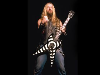 Zakk Wylde with his new Gibson ZV signature