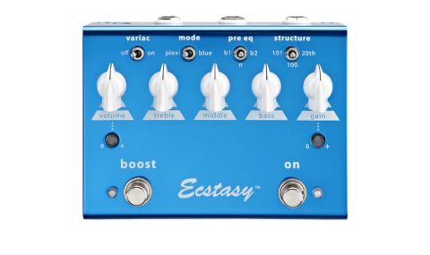 The Ecstasy Blue mimics gain and tone network changes of Bogner's long-running amp of the same name