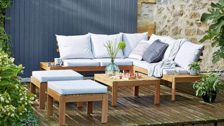 Argos garden furniture: 6 seater corner sofa