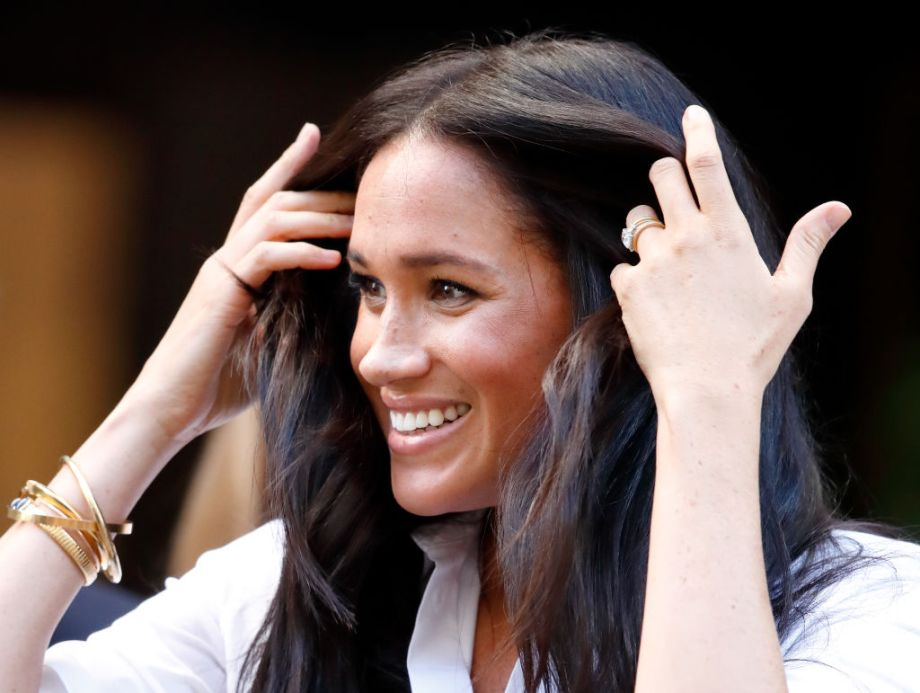 The Duchess of Sussex's gold bracelet has a very meaningful message behind it