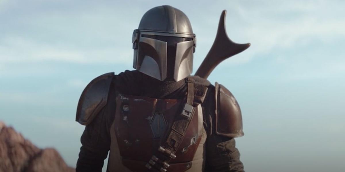 Pedro Pascal under the helmet in The Mandalorian season 1