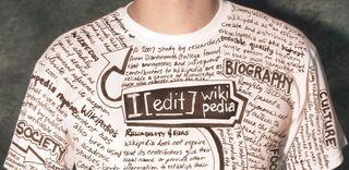 Wikipedia t-shirt, contributors