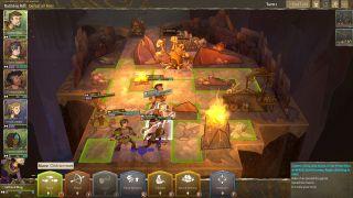A screenshot of a Wildermyth battle