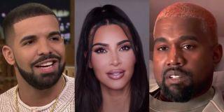 Drake, Kim Kardashian and Kanye West