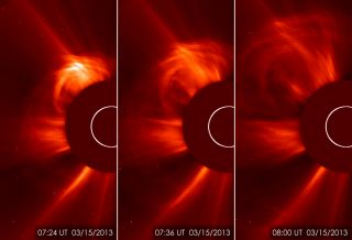 The sun unleashed a major solar eruption on March 15, 2013.