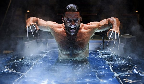 Hugh Jackman as Wolverine emerges with his Adamantium claws