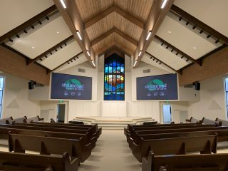 Electro Acoustics installed two large LED video walls at Shiloh Road Church of Christ—primarily to enhance the musical experience of parishioners.