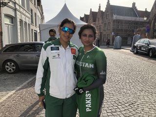 Asma Jan (left) and Kanza Malik become first Pakistani women to race internationally