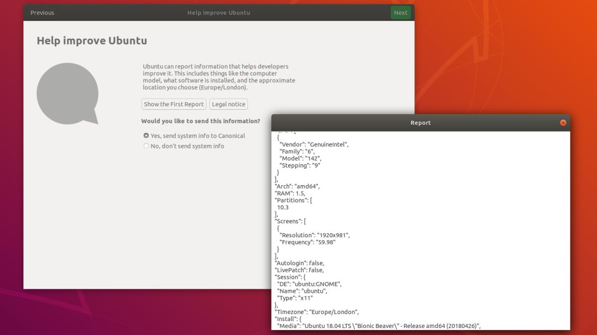 Two-thirds of Ubuntu users are happy to give up data on their PC