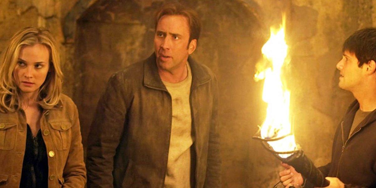 Diane Kruger, Nicolas Cage and Justin Bartha in National Treasure