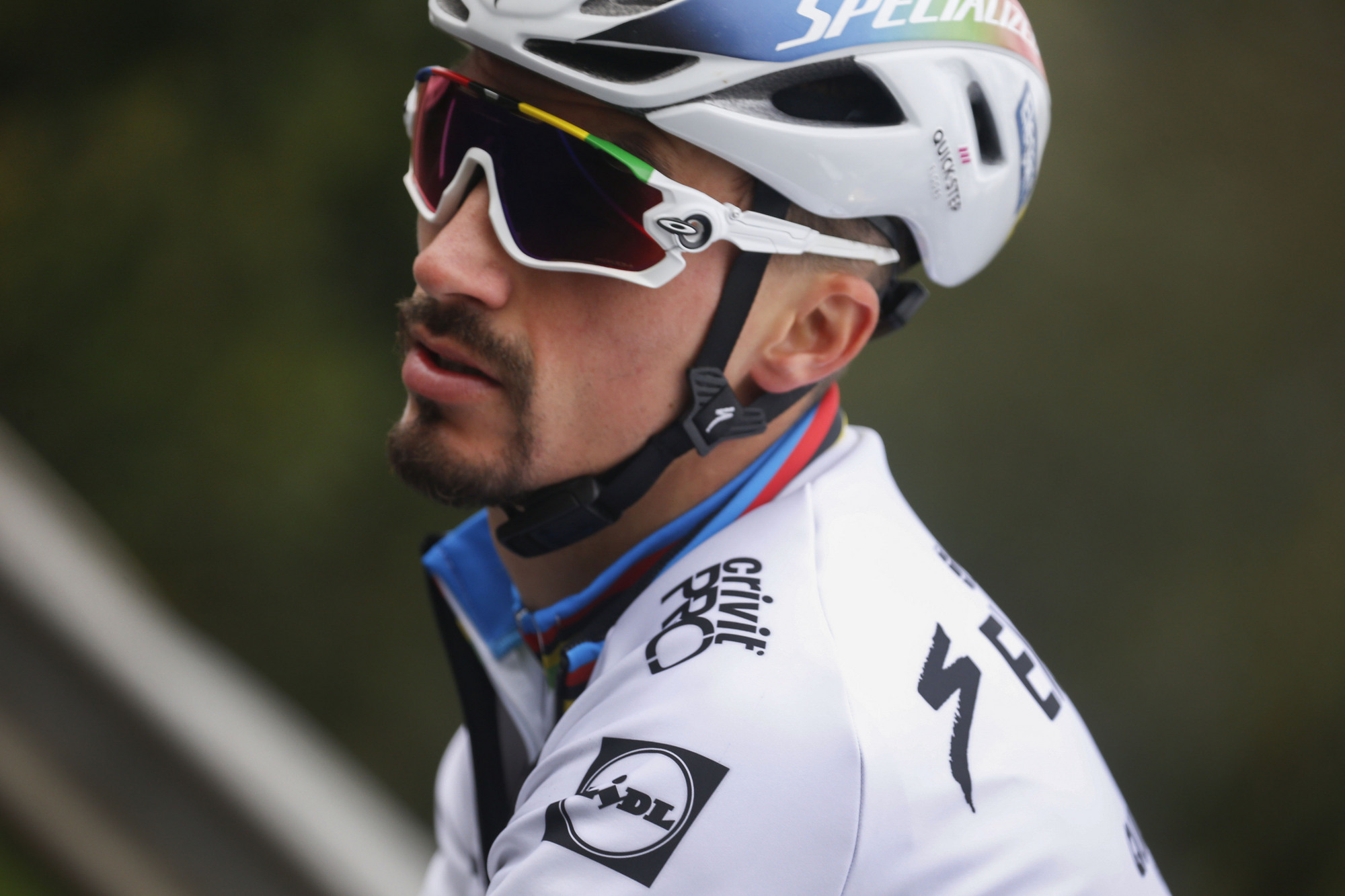Julian Alaphilippe (Deceuninck-QuickStep) at the 2020 Tour of Flanders