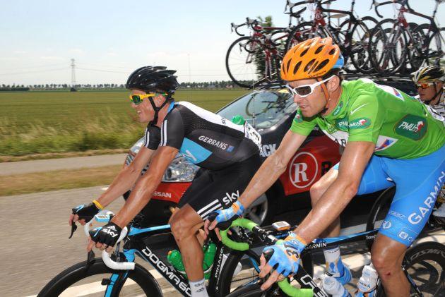 David Millar and Simon Gerrans, Tour de France 2010 stage one