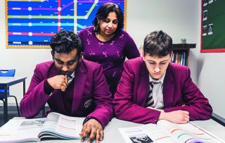 Two teenagers try to improve their poor grades by moving in with a star student