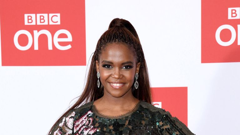 "LONDON, ENGLAND - DECEMBER 02: Oti Mabuse attends ""The Greatest Dancer"" photocall at Soho Hotel on December 02, 2019 in London, England. (Photo by Karwai Tang/WireImage)"