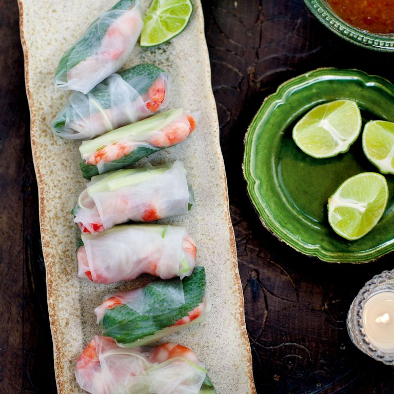 Prawn-rice paper rolls-sweet chilli sauce-Summer recipes-woman and home