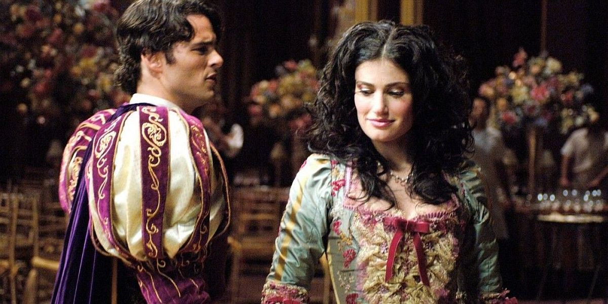 James Marsden and Idina Menzel in Enchanted