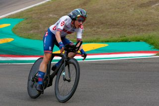 IMOLA ITALY SEPTEMBER 24 Elizabeth Banks of The United Kingdom Autodromo Enzo e Dino Ferrari during the 93rd UCI Road World Championships 2020 Women Elite Individual Time Trial a 317km stage from Imola to Imola ITT ImolaEr2020 Imola2020 on September 24 2020 in Imola Italy Photo by Bas CzerwinskiGetty Images