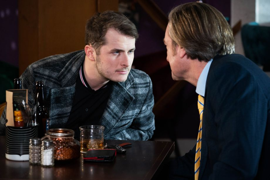 Ben Mitchell gets to know Hugo in the Prince Albert in EastEnders.