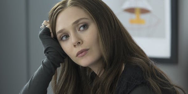 Elizabeth Olsen in Captain America: Civil War