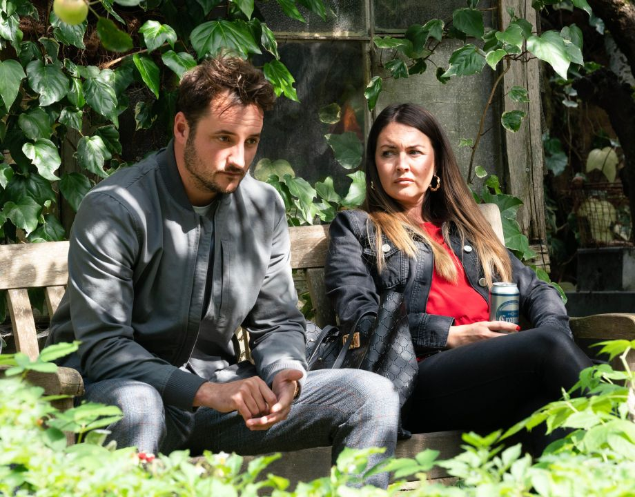 Martin Fowler and Stacey have a heated chat in EastEnders