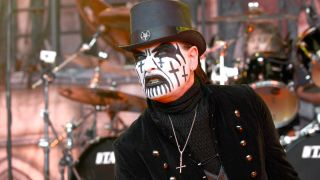 King Diamond performing at the Rockstar Energy Drink Mayhem Festival at Shoreline Amphitheatre on June 28, 2015 in Mountain View, California