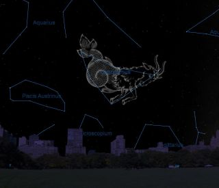 October 2012 Sky Map of Capricornus