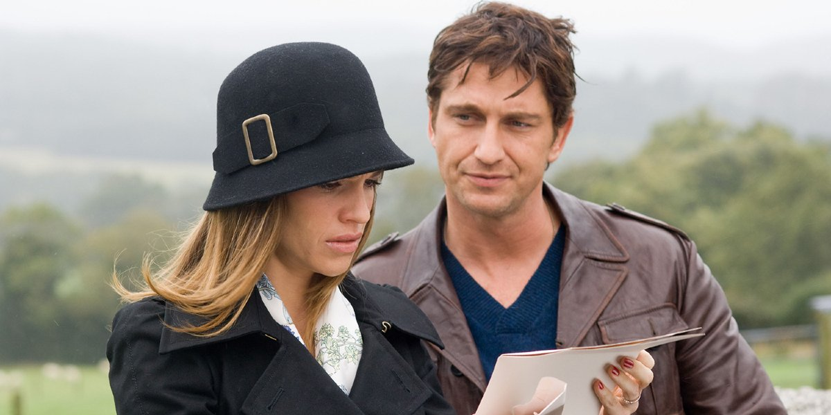 Hillary Swank and Gerard Butler in P.S. I Love You