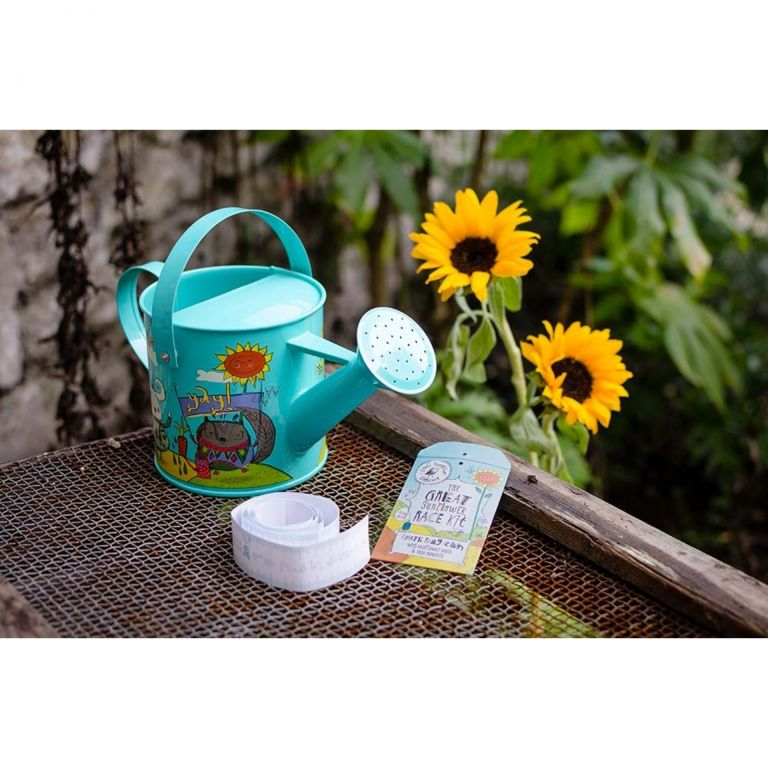 Gardening therapy for kids: child's watering can and seed kit