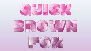 'Quick Brown Fox' written with Oxymore, a font that shows two perspectives at once.