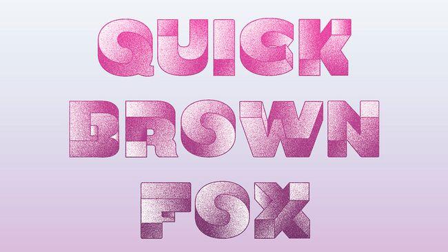 'Quick Brown Fox' written in Oxymora