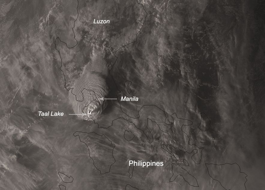 Huge Philippines Volcano Blasts Ash 9 Miles Up As Satellites Watch (Video)