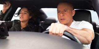 Michelle Rodriguez and Vin Diesel in F9