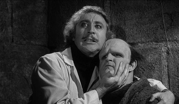 Young Frankenstein Gene Wilder Peter Boyle beholding his creature