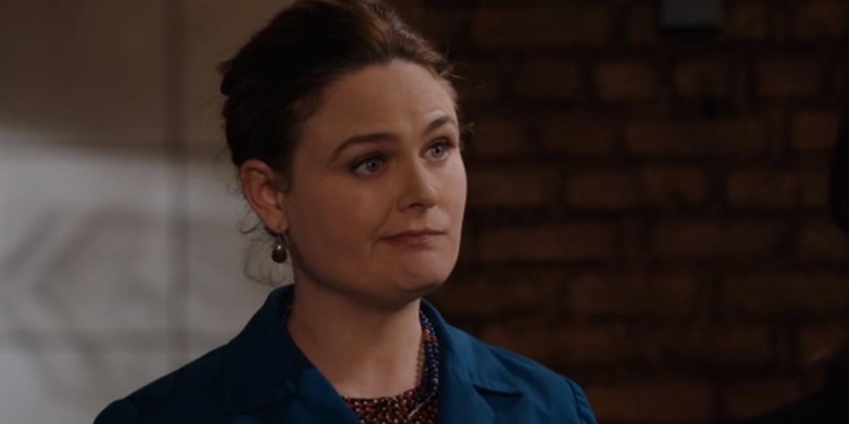 emily deschanel's Temperance Brennan in bones' final season