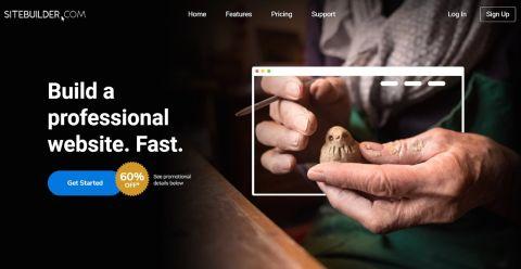 Sitebuilder's homepage