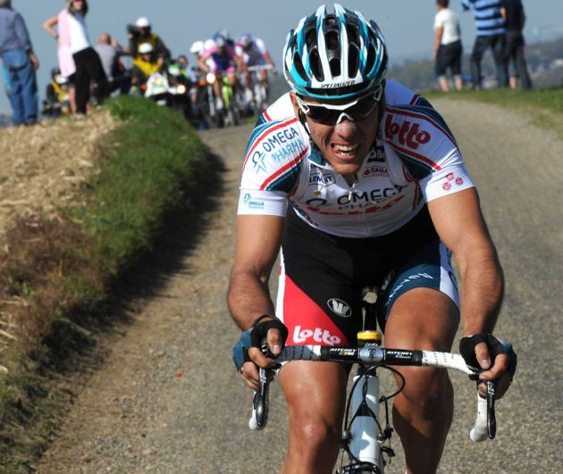 Philippe Gilbert Omega Pharma Lotto attacks Amstel Gold 2010.jpg