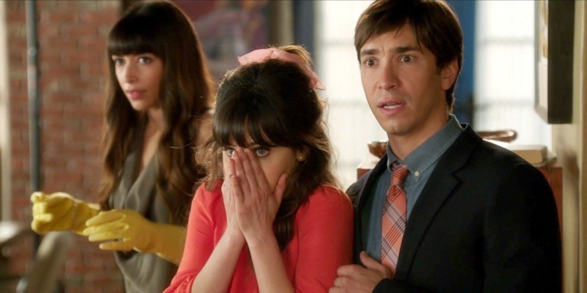 Cece, Jess and Genzlinger in New Girl thanksgiving episode