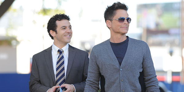 Fred Savage and Rob Lowe in The Grinder