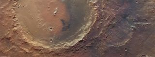 The Eberswalde crater on Mars used to be a water-filled lake.