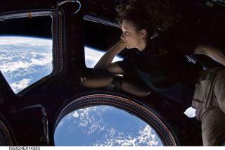 NASA astronaut Tracy Caldwell Dyson,