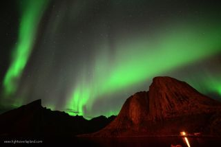 Aurora Over Norway's Lofoten Archipelago #1