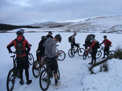 Sean Grosvenor, Nant-y-Arian, Mid Wales, 2010 snowy cycling photos