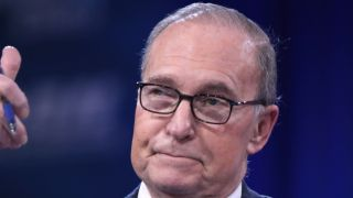 Larry Kudlow speaking at the 2016 Conservative Political Action Conference (CPAC) in National Harbor, Maryland.