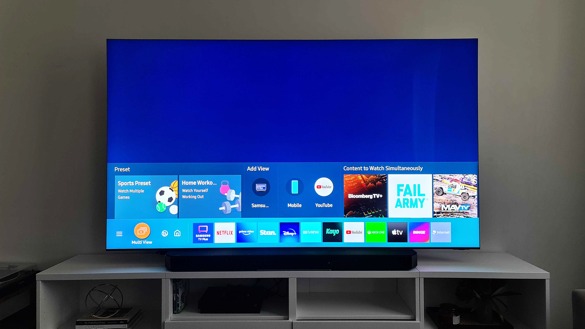 Another front view of the Samsung QN900A Neo QLED 8K