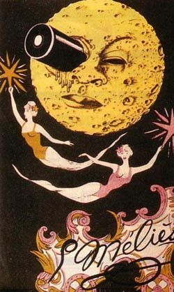 Theatrical poster for the Georges Méliès film, A Trip to the Moon, a sci-fi epic that in 1902 thrilled moviegoers.