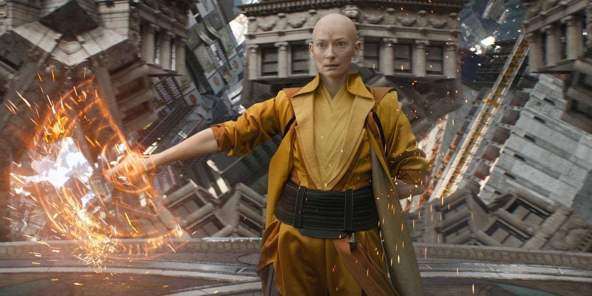Tilda Swinton as The Ancient One in Doctor Strange